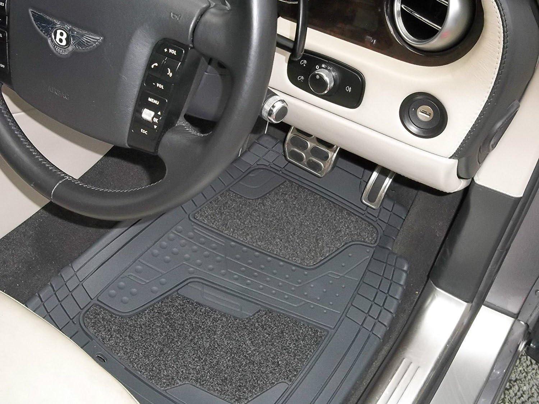 4 Piece Universal Set Quadri Grey Carpet Rubber Car Mats To Fit A Mercedes GLA