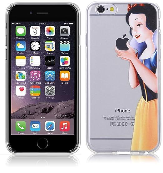 2 opinioni per Cover Biancaneve Per iPhone 7 4.7'' Case TPU Gomma Morbida Trasparente Silicone