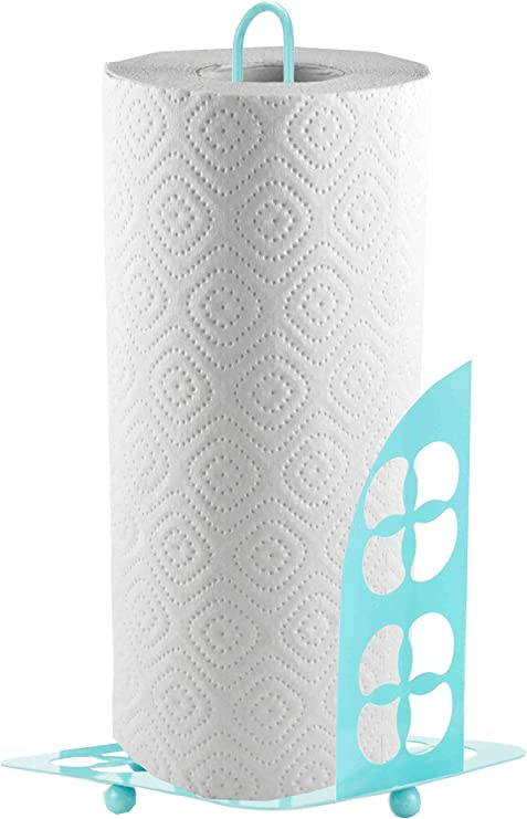 Turquoise Turquoise Home Basics Paper Towel Holder