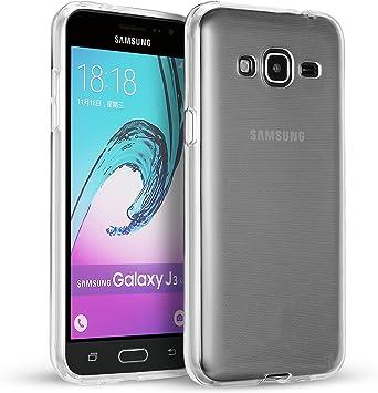 SDTEK Samsung Galaxy J3 2016 Funda [Transparente Carcasa] Case ...