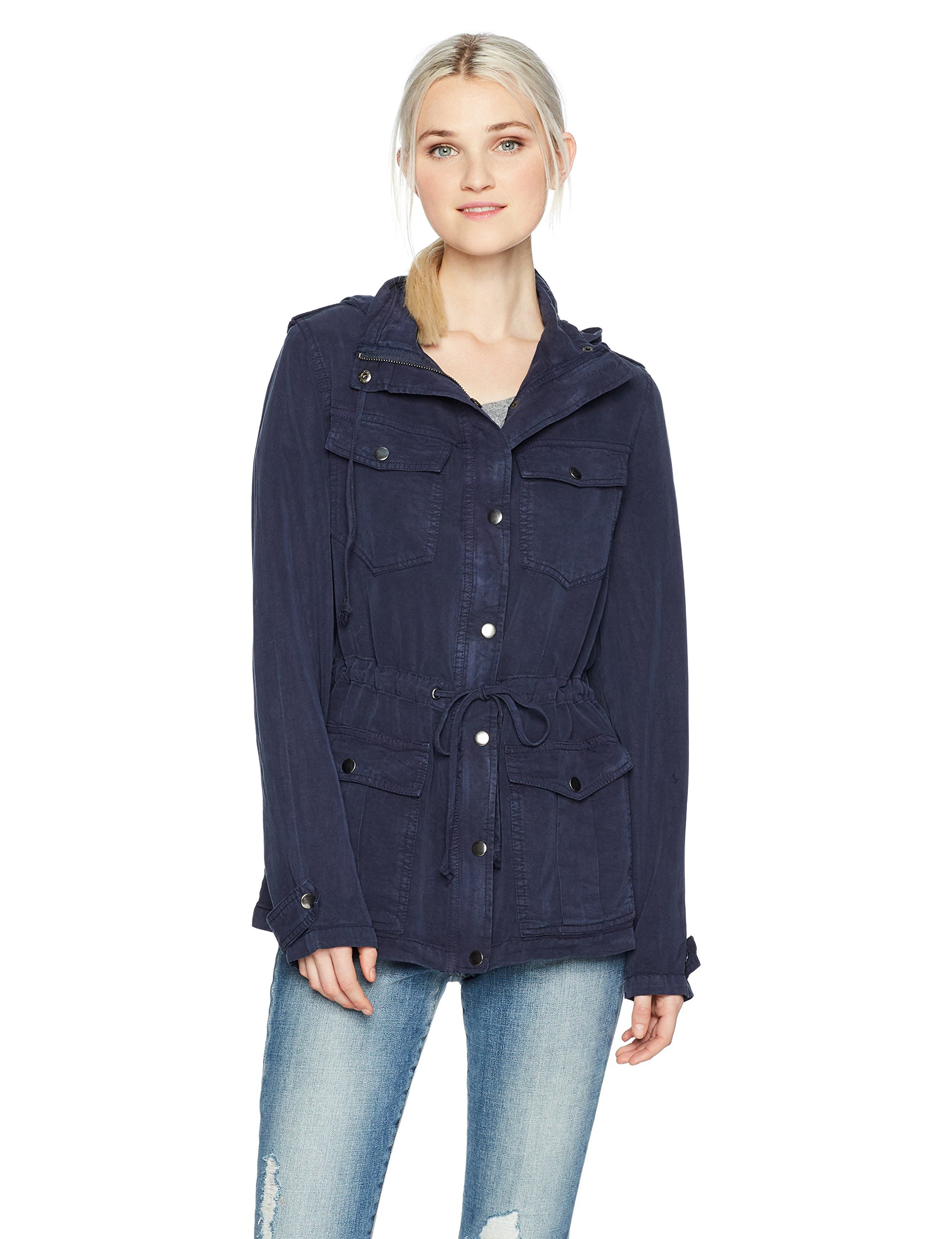 Angie Women's Vintage Wash Jacket, Navy, Medium