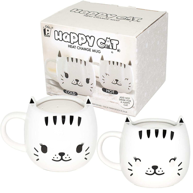 Paladone Happy Cat Heat Changing Ceramic Coffee Mug