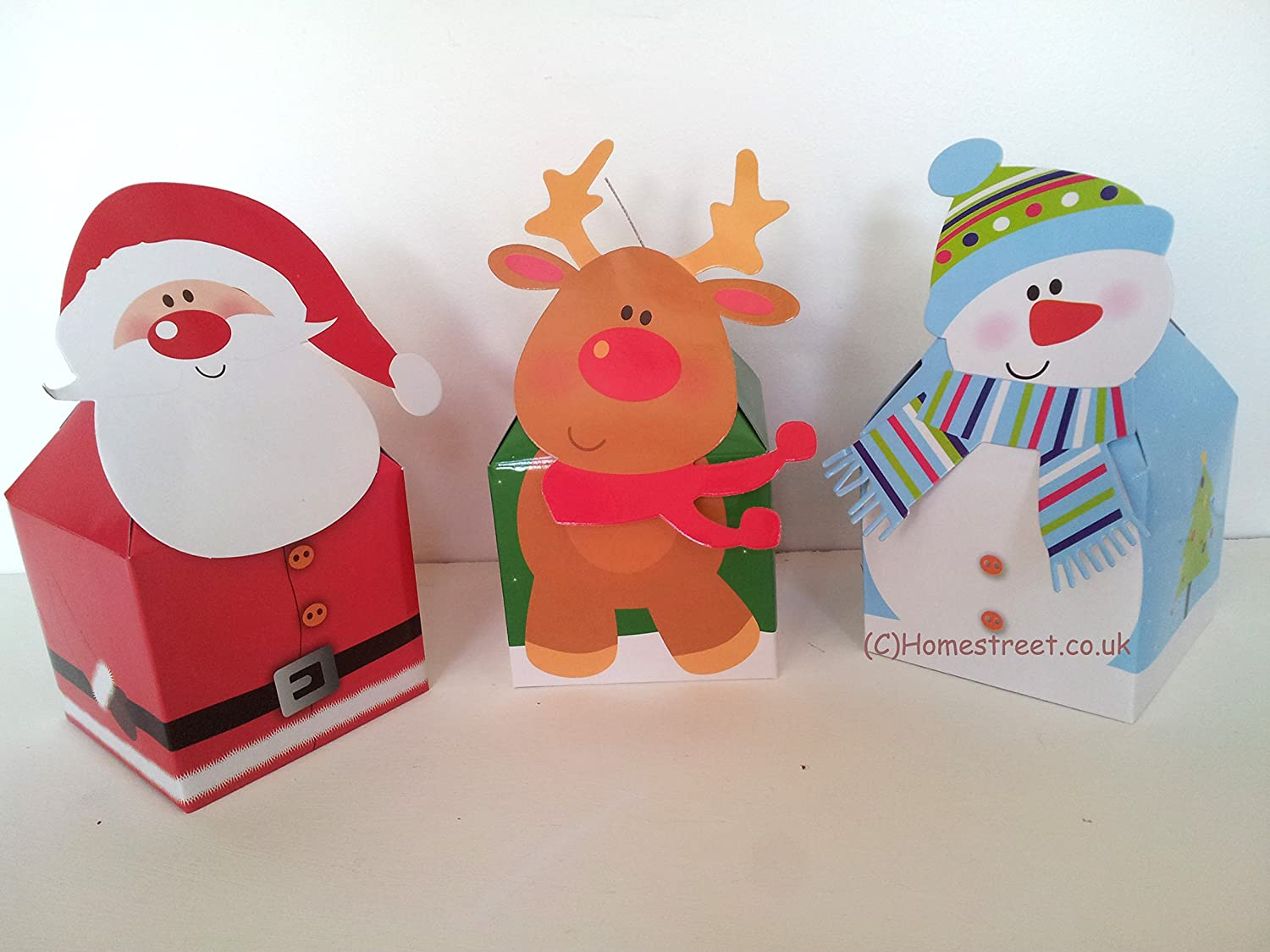 Pack of 4 Christmas Gift Boxes, 4 designs available (1 design ...