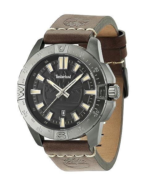 Timberland 14532JSU/02 - Reloj, correa de cuero color marrón