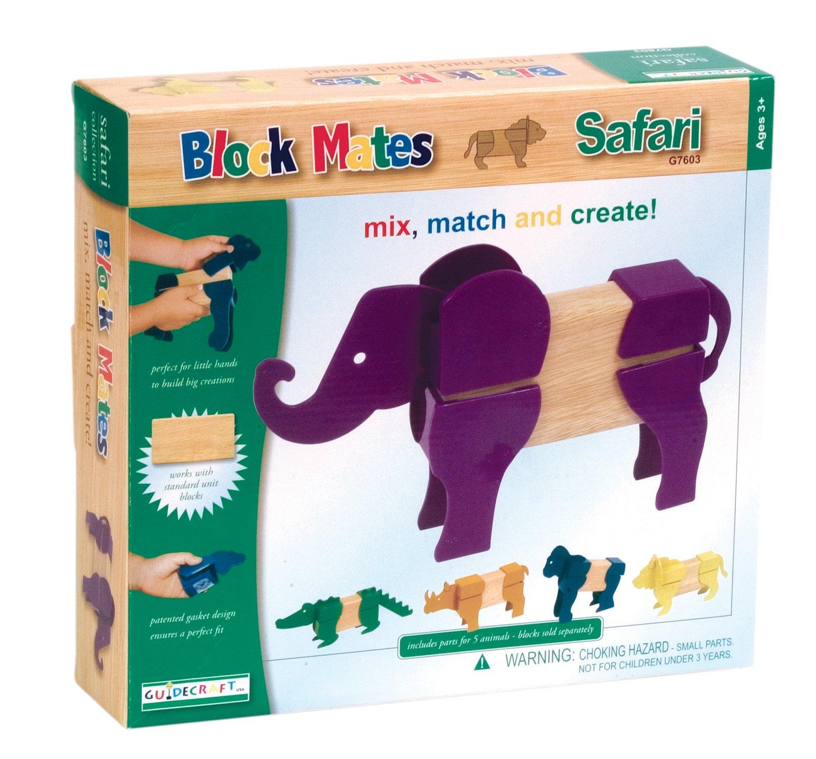 Guidecraft Block Mates - Safari Animals