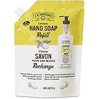 J.R. Watkins Lemon Liquid Hand Soap Refill Pouch, 1 Liter