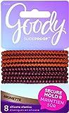 Goody SlideProof Silicone Hair Tie Elastics, Brunette, 8-count (1942461)