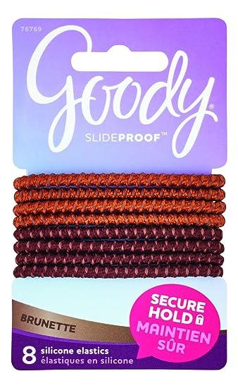 Amazon.com   Goody SlideProof Silicone Hair Tie Elastics 4518157653e