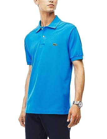 71eb559aa41 Lacoste - L1212 - Polo - Coupe droite - Manches courtes - Homme - Bleu  (Aw16-Ss17) - S (Taille Fabricant   FR 3)  Amazon.fr  Vêtements et  accessoires