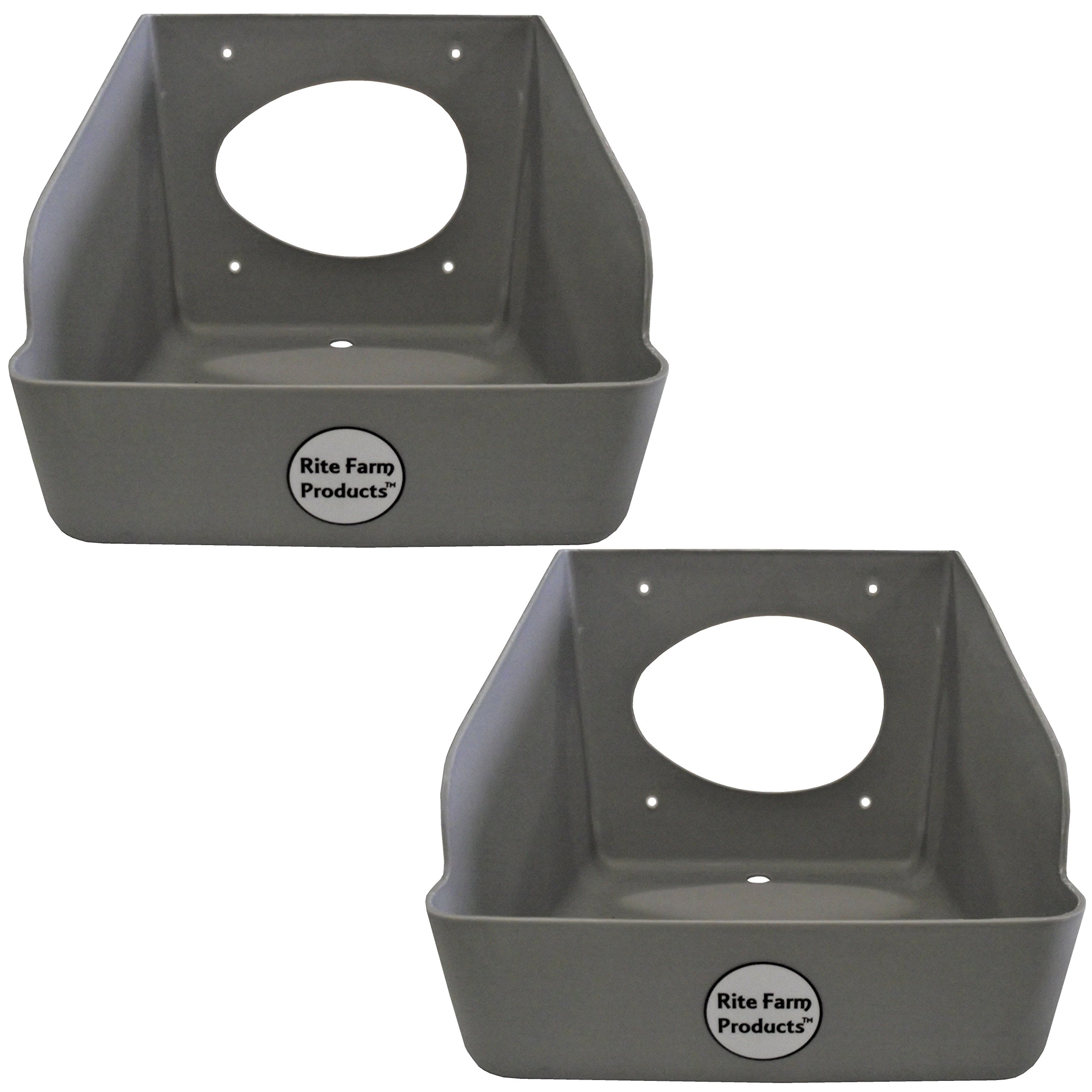 2 PACK RITE FARM PRODUCTS WASHABLE POLY EGG NESTING BOX CHICKEN LAYING COOP NEST