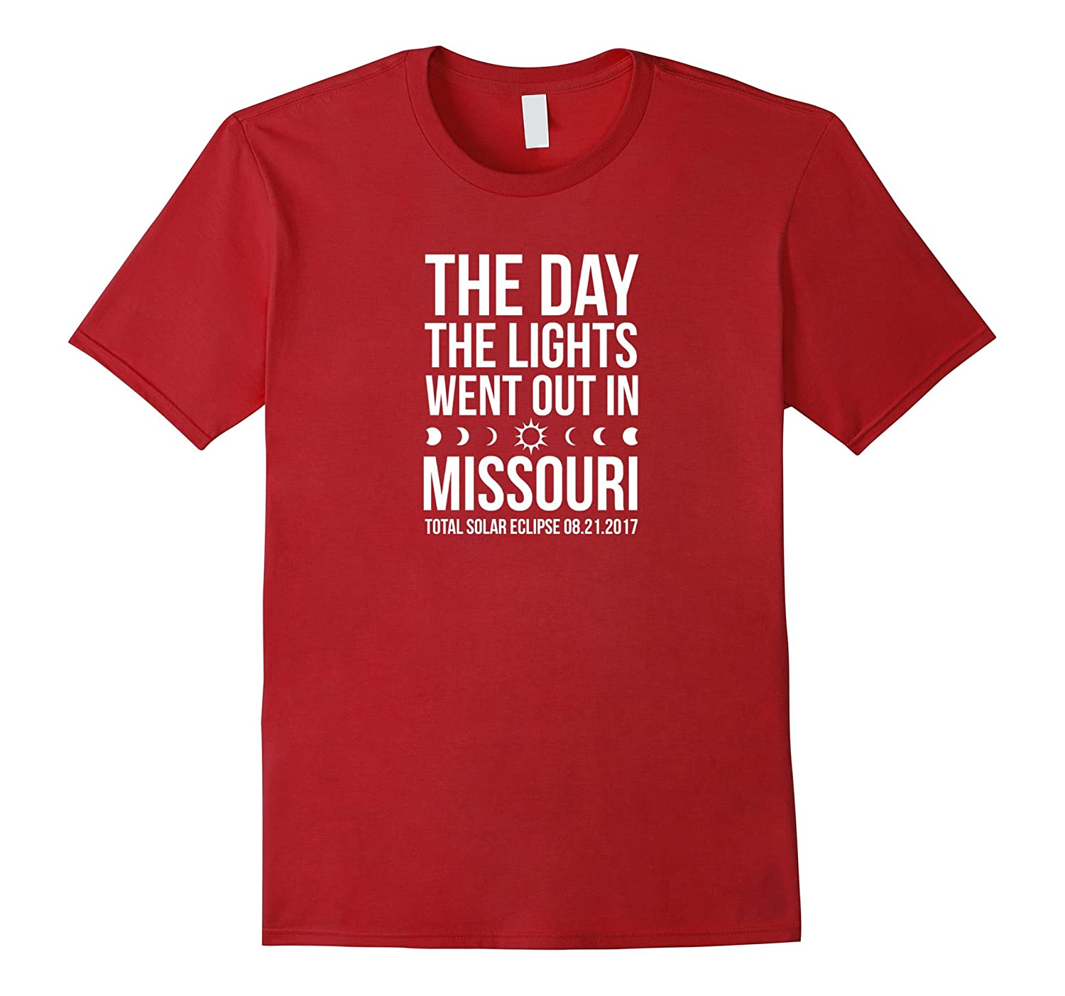 Total Solar Eclipse 2017 lights out Missouri tee shirt space-Art