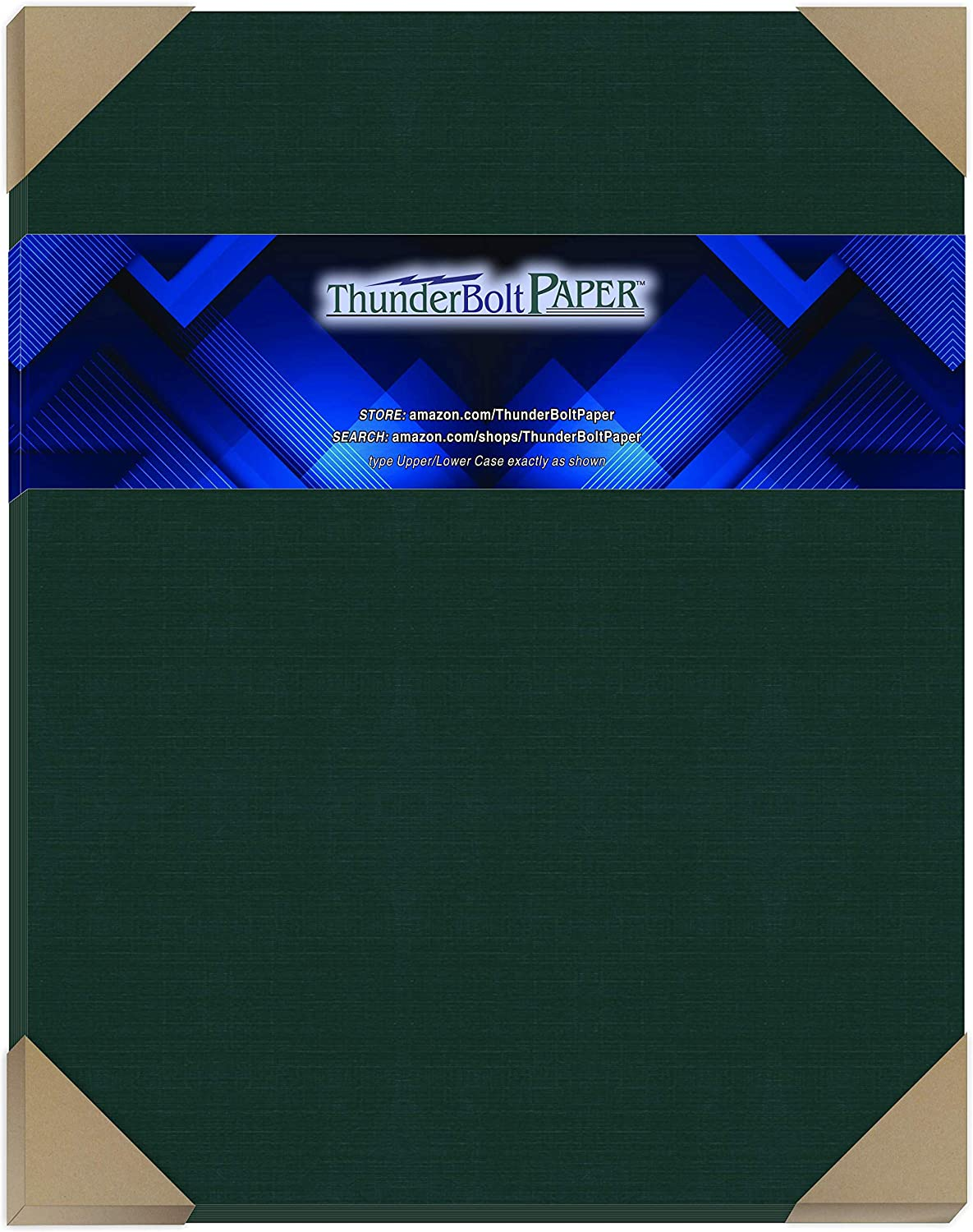 Standard Letter|Flyer Size Fine Linen Textured Finish 80 lb//Pound Card Weight 8.5 X 11 150 Dark Green Linen 80# Cover Paper Sheets 8.5X11 Inches Deep Dye Quality Cardstock