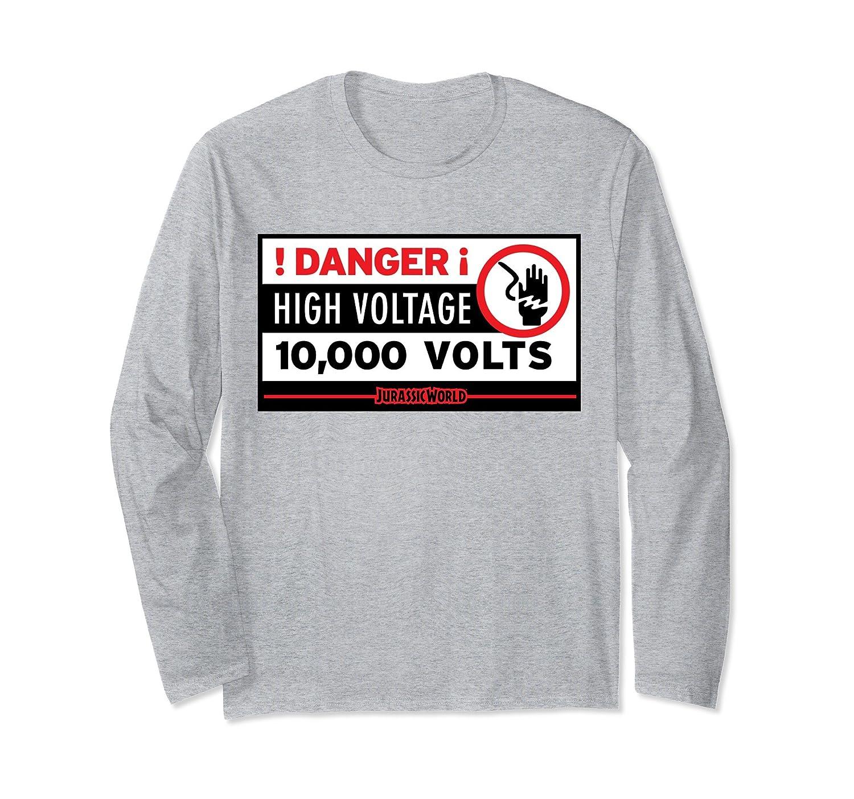 Amazon.com: Jurassic World Danger! High Voltage Long Sleeve T-Shirt ...