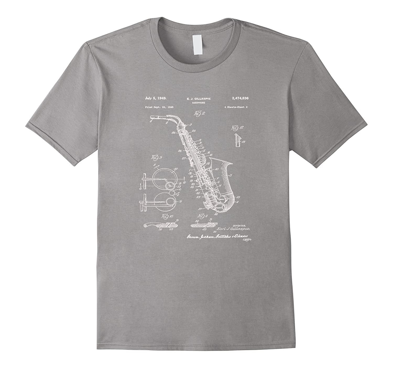 Saxophone Patent Graphic T-Shirt-T-Shirt