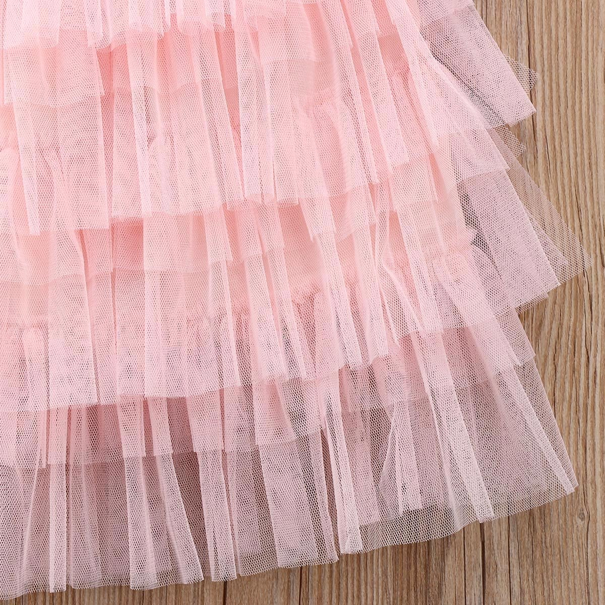 Toddler Baby Girl Tutu Lace Party Dress Flower Girl Dress Princess Dress Kids Girl Floral Dress Clothes