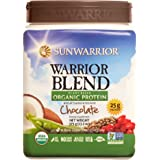 Sunwarrior - Warrior Blend, Raw, Plant Based, Organic Protein, Chocolate, 15 servings