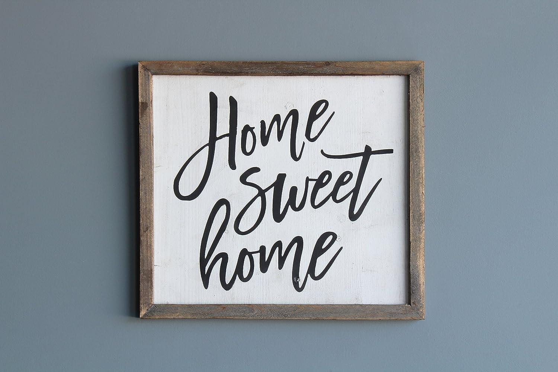 Amazoncom Home Sweet Home Wood Sign Decorative Genuine Wood
