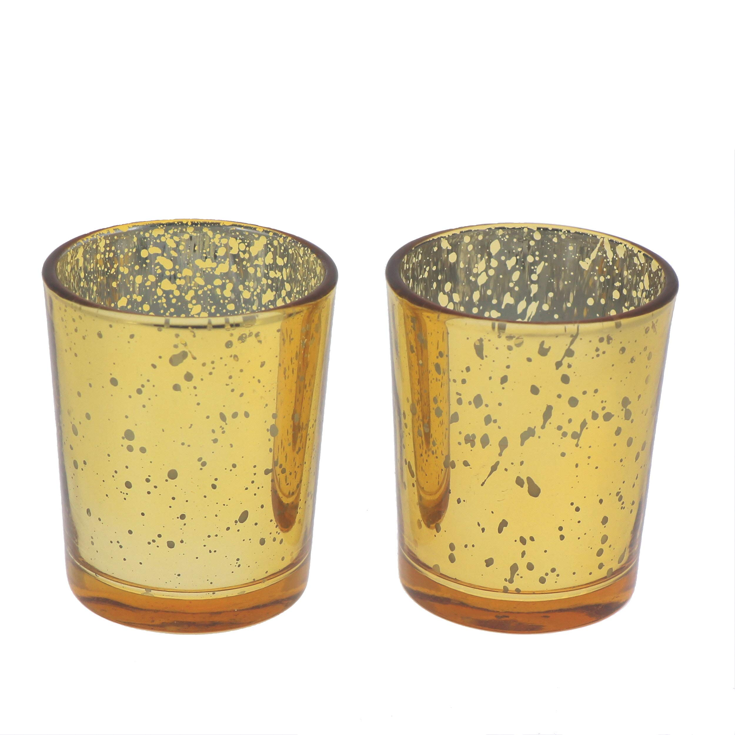 Michael Zohar Candles Mercury Glass Votive Candles | 15 Hour | Gold | Filled | Set of 72 by Michael Zohar Candles