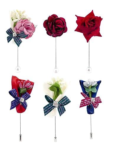Amazon.com  Geek-M Women s Lapel Pin Brooch Handmade Boutonniere ... d72ce2ea2