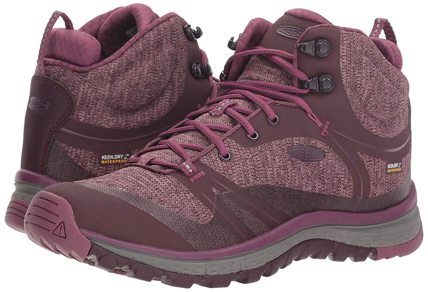 KEEN Women's Terradora Mid Waterproof Hiking Shoe B077KJJV53 8.5 M US|Wine Tasting/Tulipwood