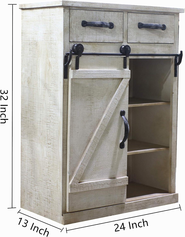 Paris Loft - Armario de Madera con Puerta corredera, diseño rústico, Color Blanco: Amazon.es: Hogar