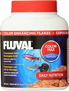 Fluval Color Enhancing Flakes Fish Food 35gm, 1.23-Ounce