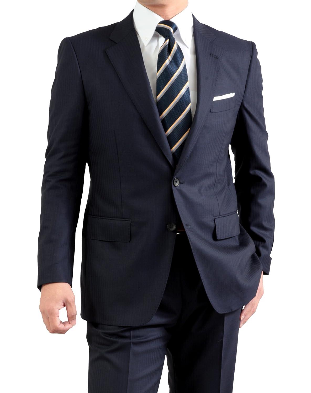 春夏 renoma PARIS 高品質ウール SUPER100's メンズ 2ツボタン スーツ ワンタック レギュラーフィット B072F1VDN1 BB体5号 濃紺シャドーストライプ 濃紺シャドーストライプ BB体5号