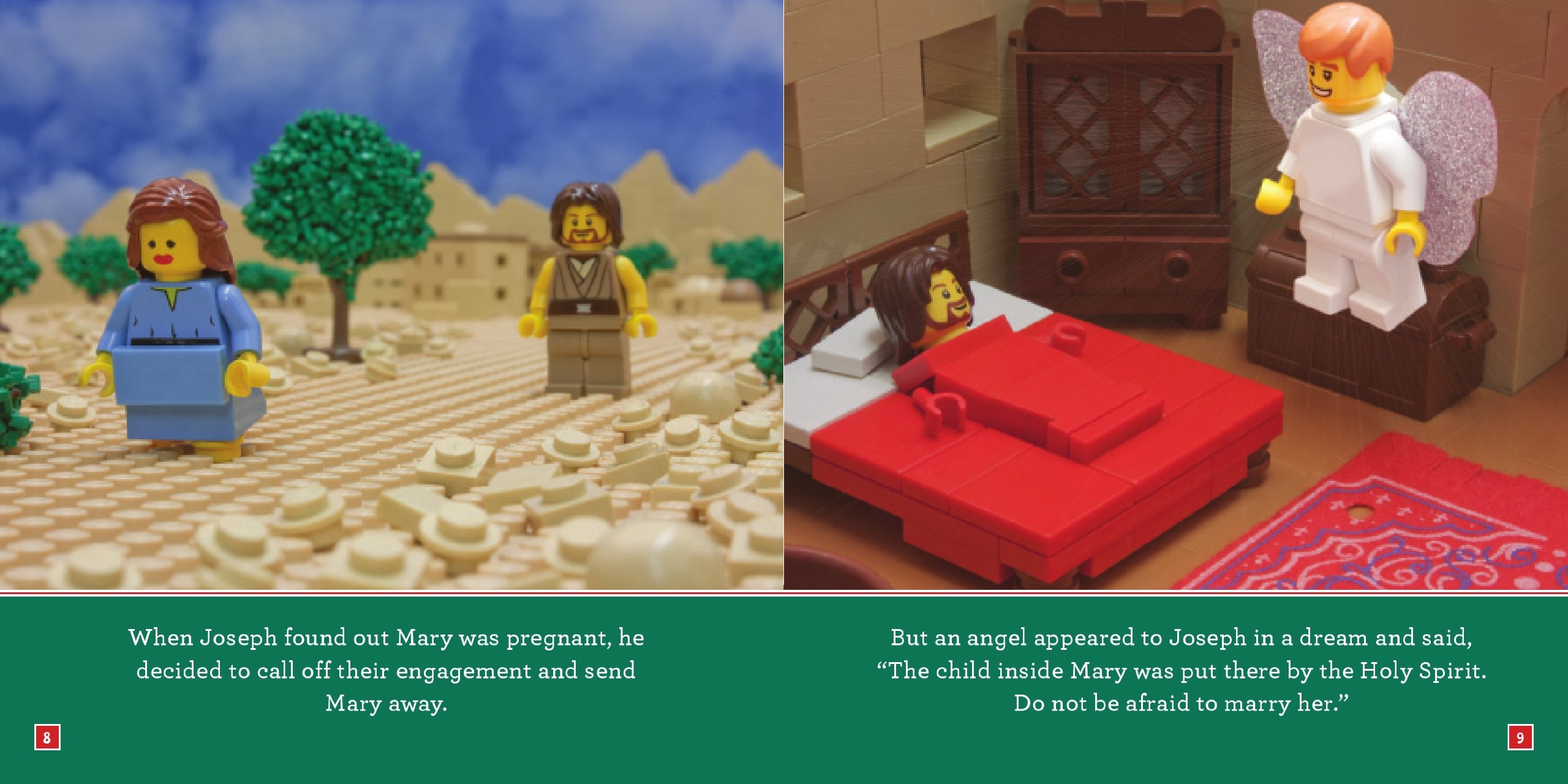 Amazon Com The Christmas Story The Brick Bible For Kids