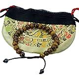 Tibetan Dark Yak Bone Wrist Mala/ Bracelet for Meditation