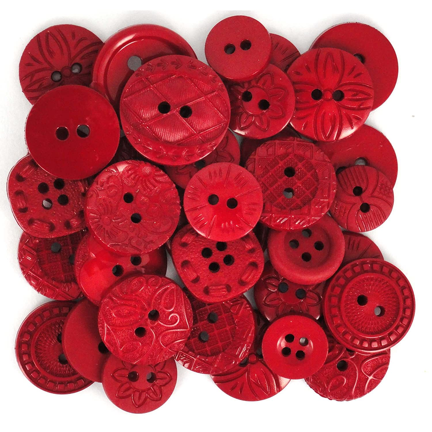 Jesse James (1-Pack) Dress It Up Buttons The Color Me Collection #0059 Color Me Red 0059-1P by Jesse James   B0018N1XTK