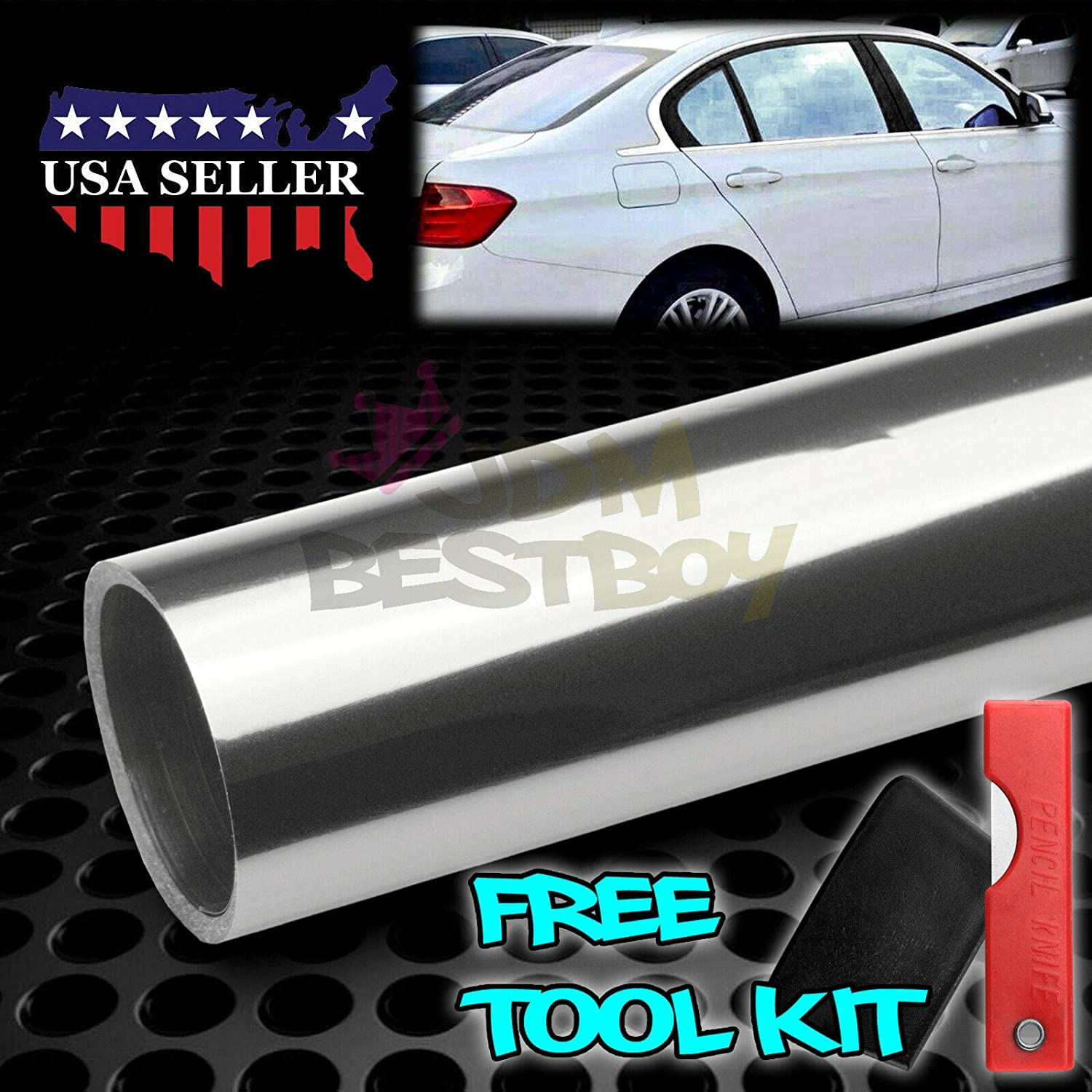 JDMBESTBOY Free Tool Kit 20x120 Uncut Roll Window Charcoal Black VLT 5/% Tint Film Car Glass Office Home Security