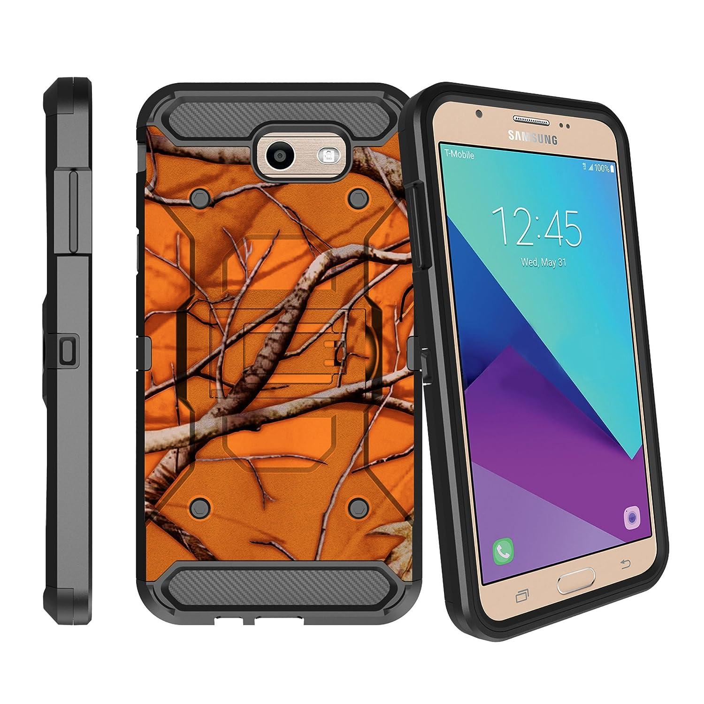 Amazon Com Heavy Duty Max Guard Samsung Galaxy J3 Emerge Phone Case