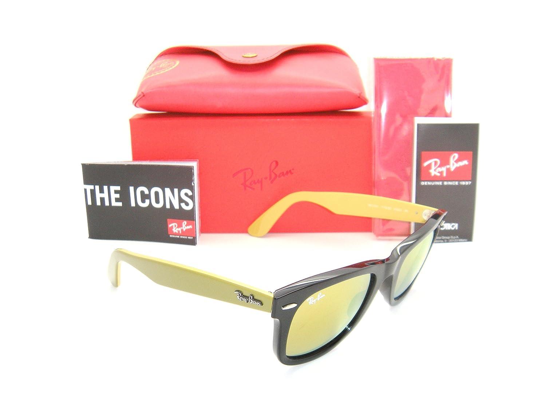 d10bc92c153fd ... sunglasses 0cad9 315cd  sale amazon ray ban original wayfarer rb 2140  1173 93 50mm black frame light brown mirror
