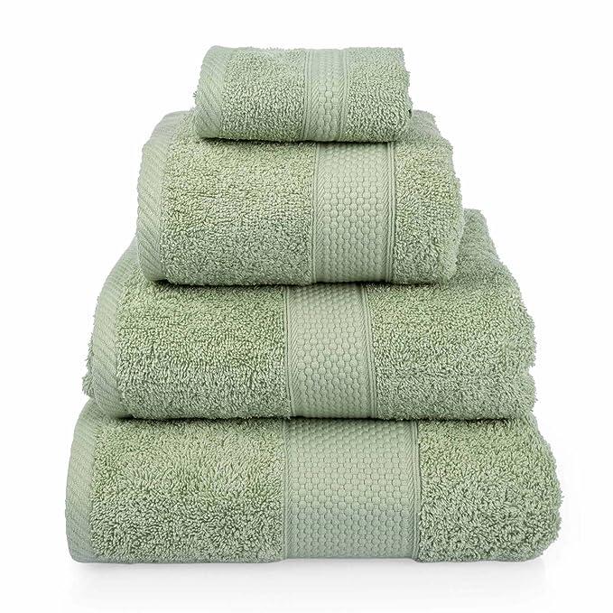 2 opinioni per Homescapes, set di 4 asciugamani da bagno in cotone turco, molto morbido e