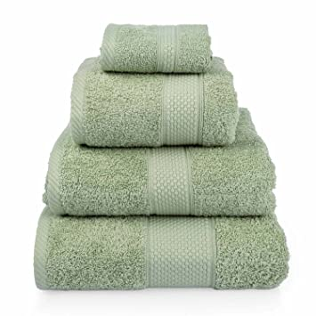 Homescapes Toalla baño Grande, 100% algodón Turco Absorbente y Suave, Color Verde Salvia 100 x 150 cm: Amazon.es: Hogar