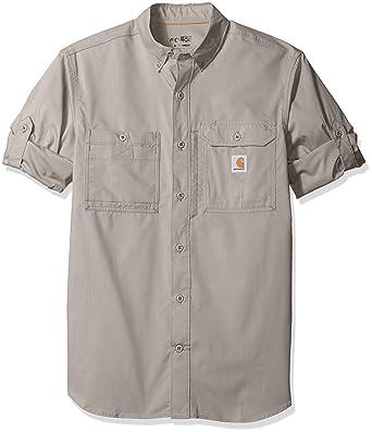 Amazon.com: Carhartt Men's Force Ridgefield Solid Long Sleeve Shirt:  Clothing