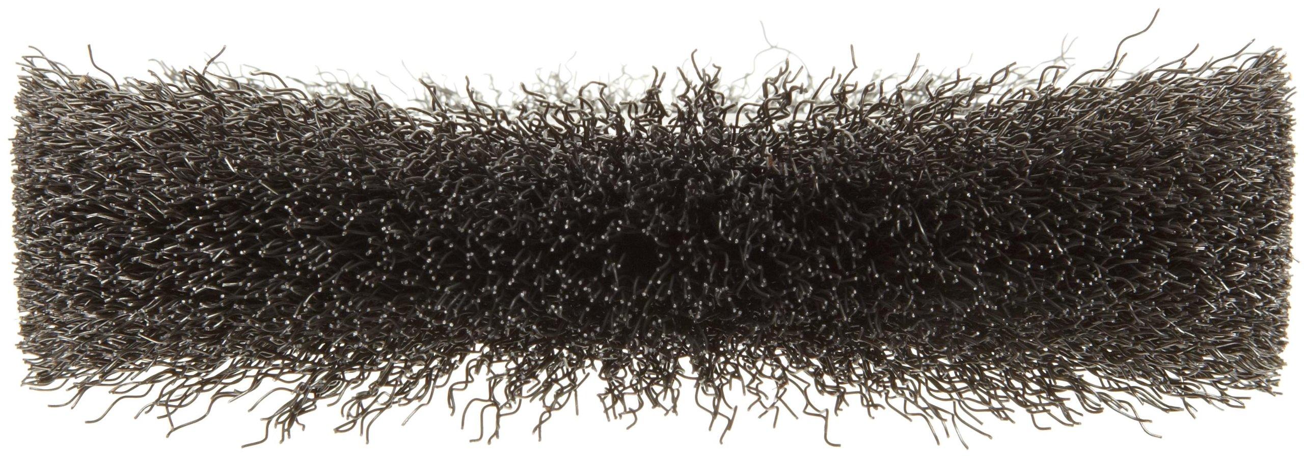 Weiler Trulock Medium Face Wire Wheel Brush, Round Hole, Steel, Crimped Wire, 6'' Diameter, 0.014'' Wire Diameter, 2'' Arbor, 1-1/8'' Bristle Length, 1'' Brush Face Width, 6000 rpm by Weiler (Image #2)