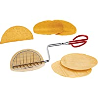 HIC Harold Import Co. Taco Shell Tong, Steel, For Making Homemade Taco Shells, Red