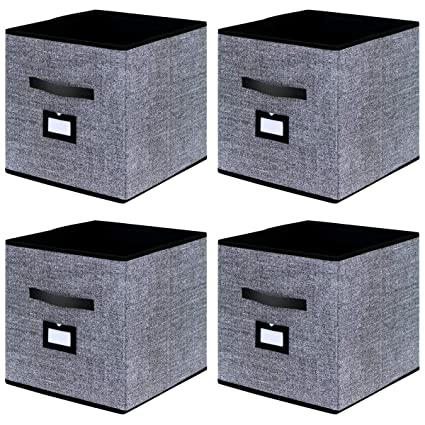 Attirant Onlyeasy Cloth Storage Bins Foldable Cube Storage Bin   Fabric Cube  Organizers Container Drawers With Dual