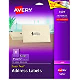 "Avery  Clear Easy Peel Address Labels for Laser Printers  1"" x 2-5/8"", Pack of 750 (5630)"