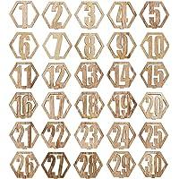 Bright Creations números de Mesa de Madera 1-30
