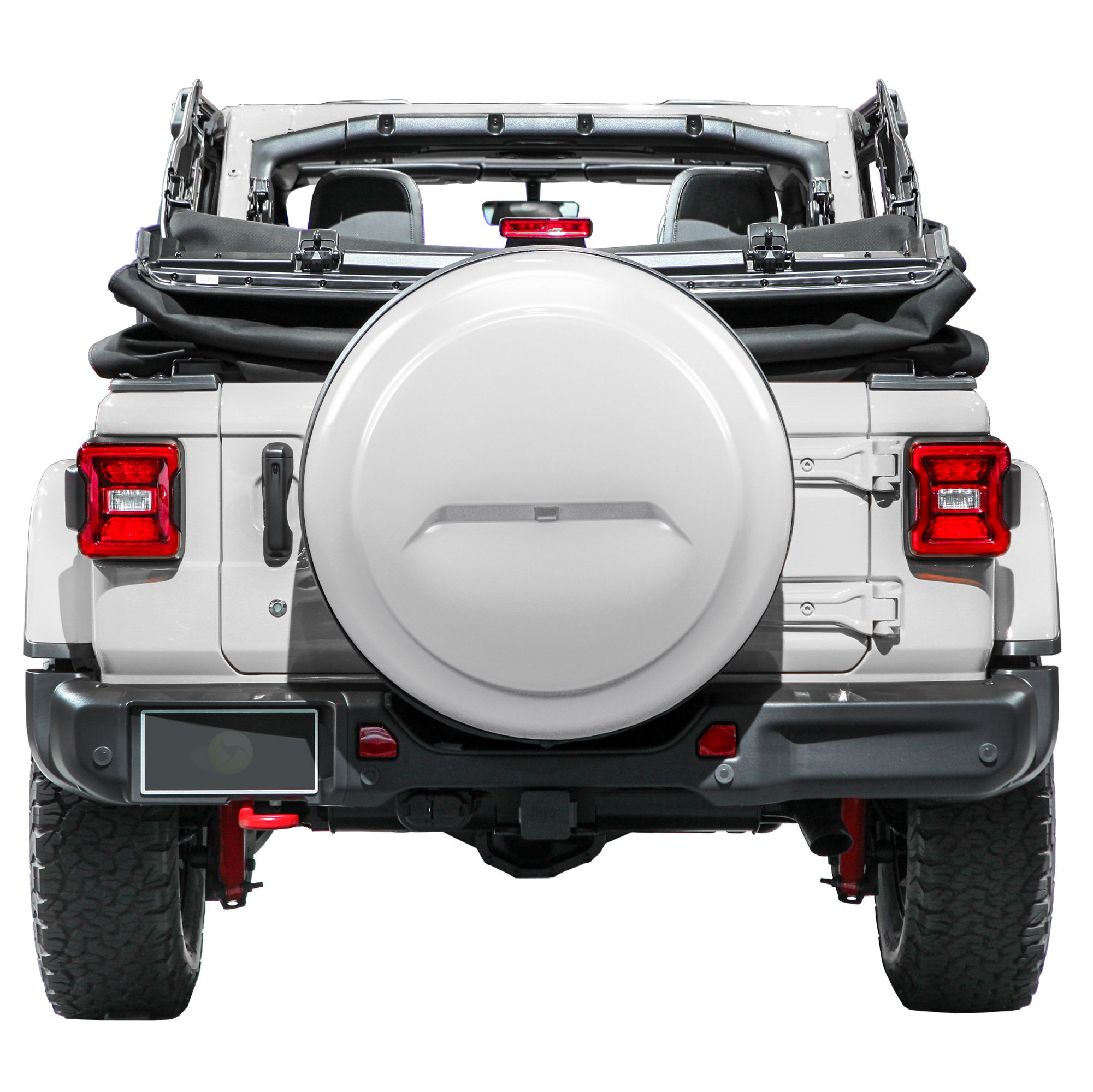 2018 Jeep Wrangler JL & JLU - 32'' Color Matched Rigid Tire Cover (Plastic Face & Vinyl Band) - Bright White