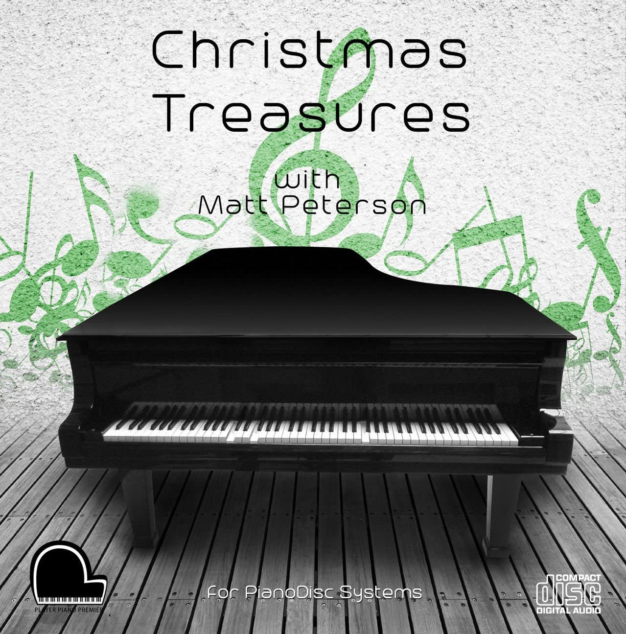 Christmas Treasures - PianoDisc Compatible Player Piano CD