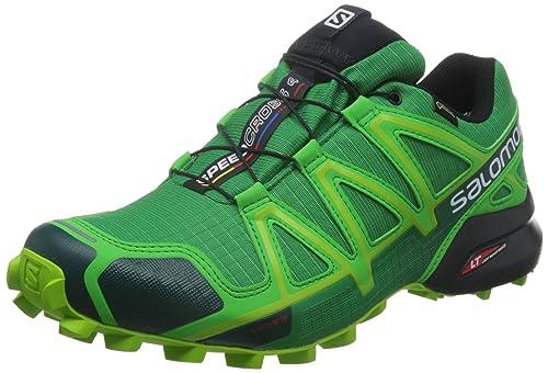Salomon L38311900, Zapatillas de Trail Running para Hombre, Verde (Athletic Green X/Peppermint/Granny), 49 1/3 EU: Amazon.es: Zapatos y complementos