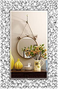 "KOHROS Large Antique Wall Mirror Ornate Glass Framed Venetian Decor Mirror Bedroom,Bathroom, Living Room (W 23.6"" X H 35.4"")"