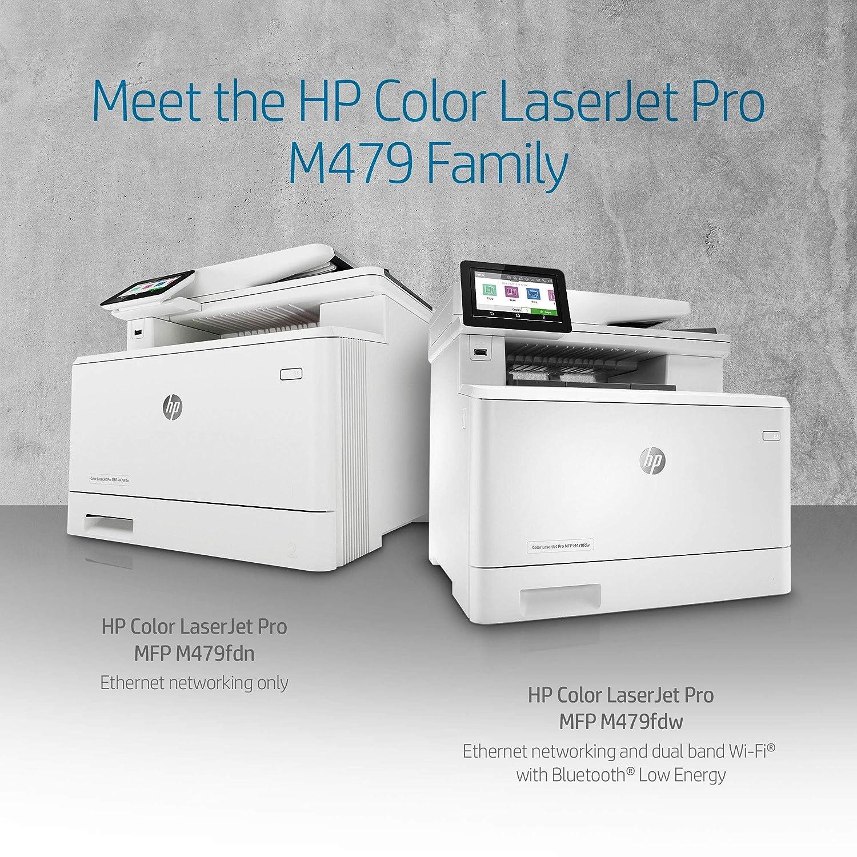 HP Color Laserjet Pro Multifunction M479fdw Wireless Laser Printer (W1A80A) with Standard Yield Black Toner Cartridge