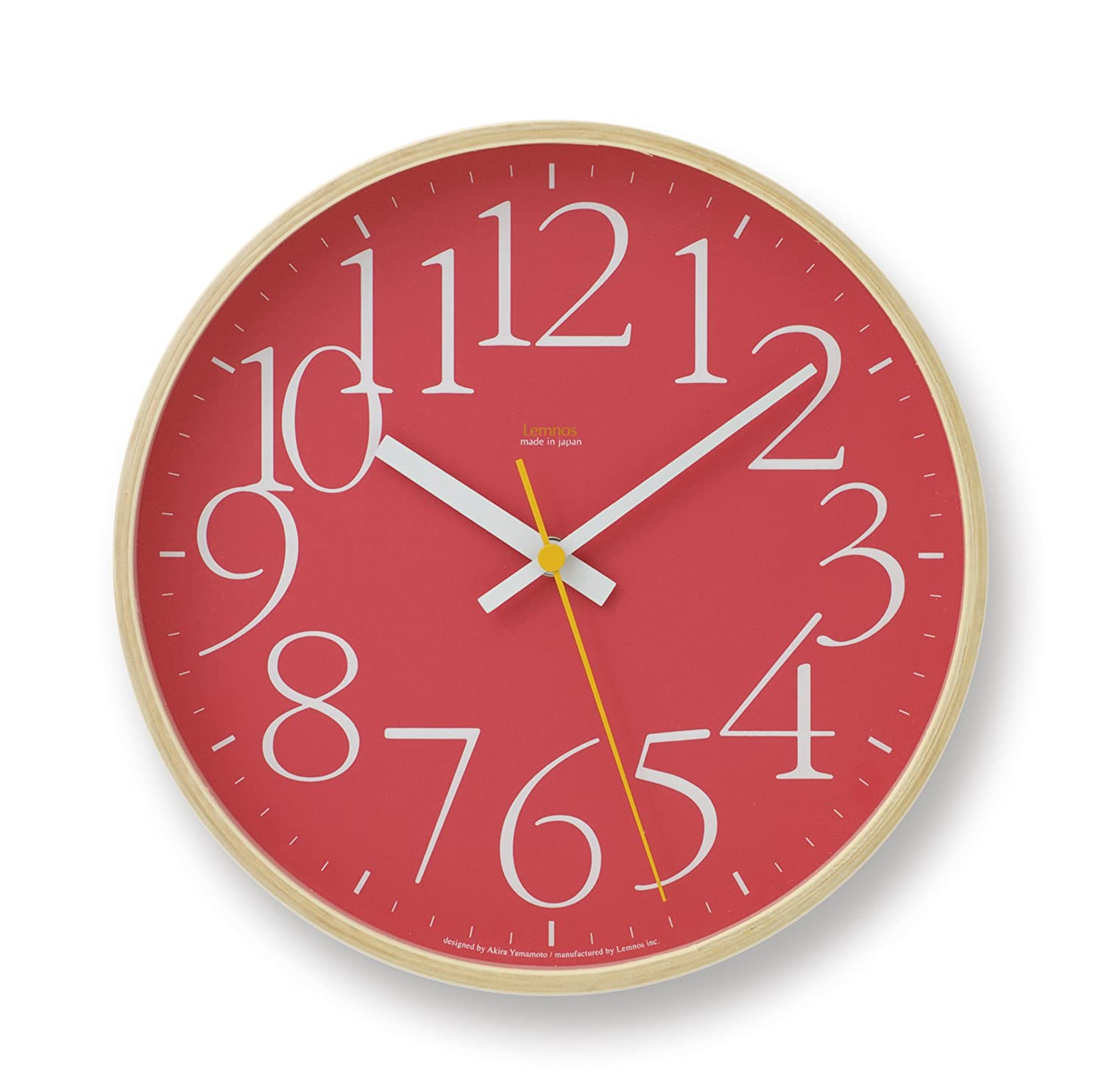 Lemnos AY clock レッド LC09-17 RE B002XZBYPA レッド レッド