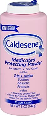 Caldesene Medicated Protecting Powder with Zinc Oxide & Cornstarch-Talc Free, 5
