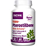 Jarrow Formulas Natural Source Pterostilbene, Supports Cardiovascular & Neurologic Health, 50 Mg, 60 Veggie Caps