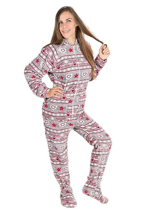 989939e8008 Sueño De Navidad Kajamaz  Pijama Con Pies Para Adultos